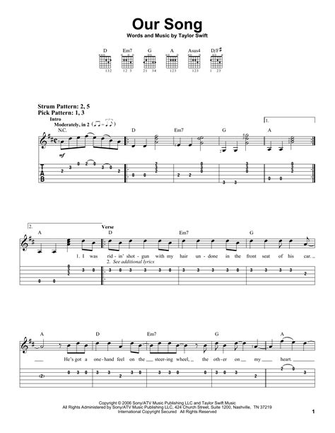 Taylor Swift Song Guitar Chords