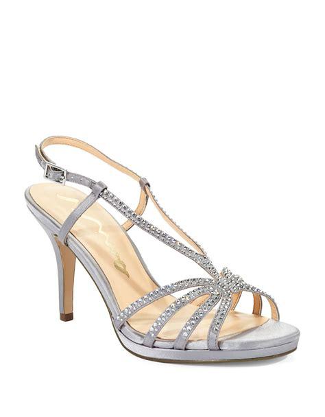 silver rhinestone sandals bobbie rhinestone sandal heels in silver lyst