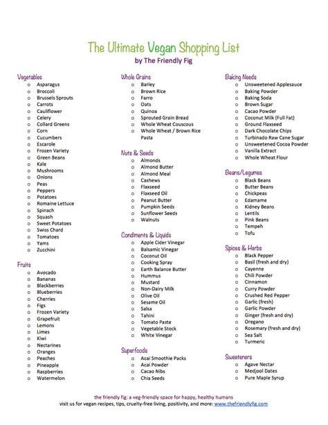 vegan grocery list vegan grocery best 25 vegan grocery lists ideas on