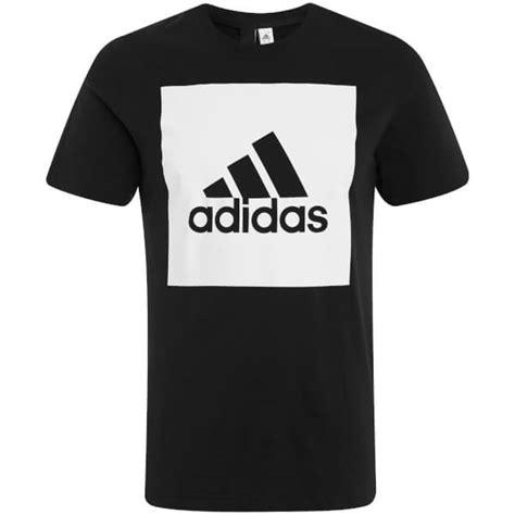 Adidas Logo Black Tshirt adidas s essential square logo t shirt black