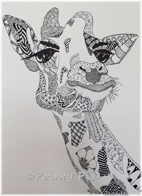 animal zendoodle coloring pages the gallery for gt zentangle giraffe