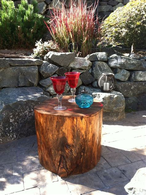 Tree Stump Patio by Tree Stump Patio Side Tables Backyard Sanctuary And