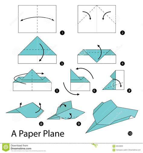 Steps How To Make A Paper Airplane - step by step how to make origami a paper