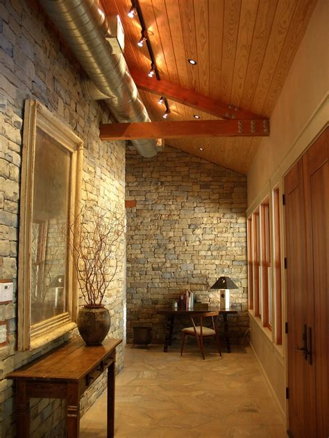 interior stone walls staircase traditional with interior