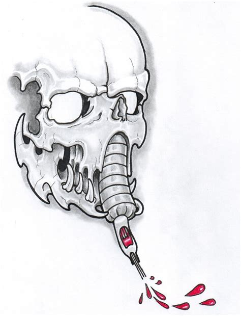machine gun tattoo designs skull machine