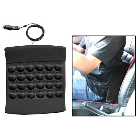 vibrating seat pad buy vibrating car back seat cushion for relaxation black