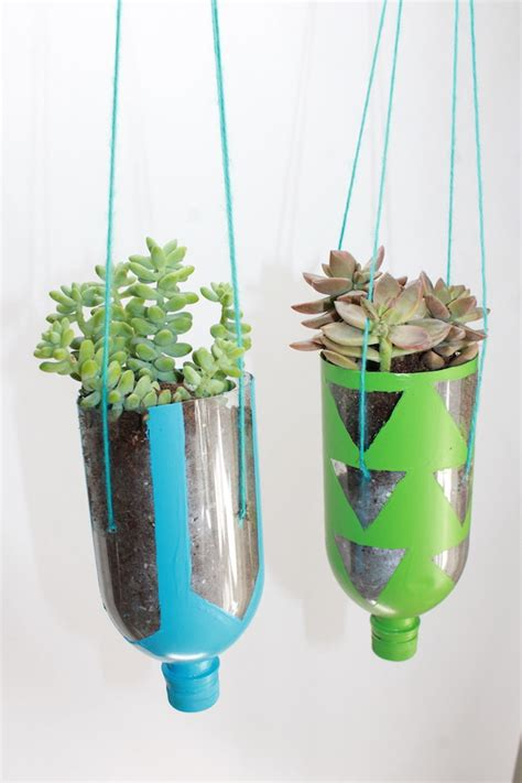 how to make hanging planters how to make hanging planters from recycled water bottles