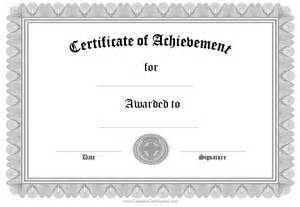 Certificate Of Achievement Template Free Editabe Free Certificate Of Achievement