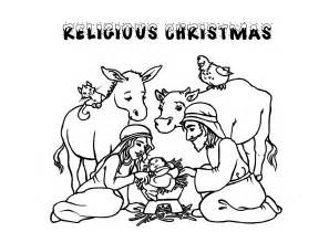 printable christian christmas coloring pages for kids