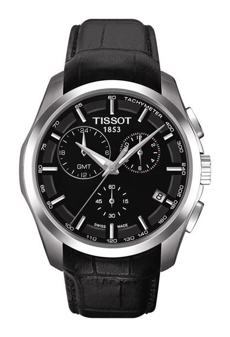 Tissot T0 Couturier Gmt Grey Black tissot couturier quartz chronograph gmt t0354391105100
