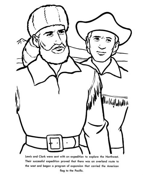 lewis and clark coloring page teaching pinterest