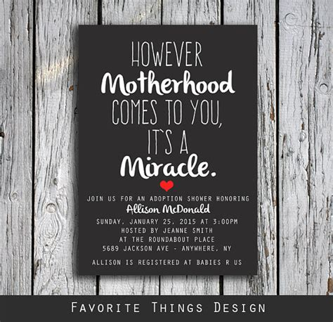 How Many Do You Invite To A Baby Shower by Adoption Shower Invitation However Motherhood Comes To You