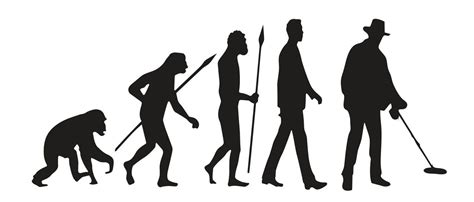 Evolution Of Metal Detecting Size L mds evolution of metal detecting decal metal detector spot
