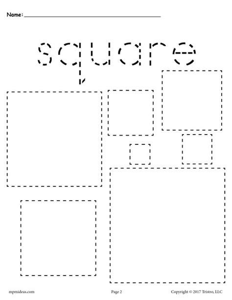 printable alphabet squares free squares tracing worksheet tracing shapes worksheets