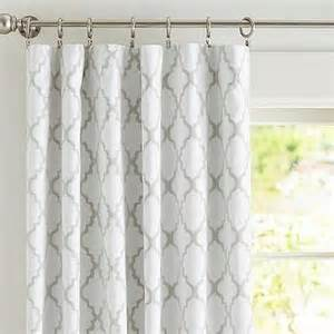 Grey And White Curtains Kendra Trellis Sheer Drape Pottery Barn