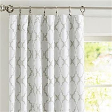 Grey Trellis Curtains Kendra Trellis Sheer Drape Pottery Barn