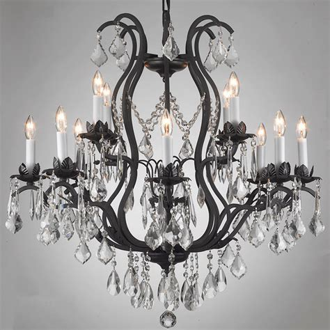 Overstock Chandeliers Regent Iron 12 Light Chandelier Contemporary Chandeliers By Overstock