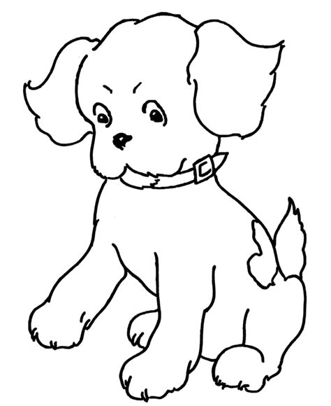 simple dog coloring page bluebonkers puppy dog simple objects to color az