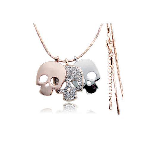 aliexpress com buy rhinestone sugar skull necklace