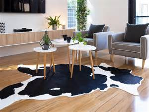 White Cowhide Rugs Mocka Faux Cowhide Rug Living Room Decor