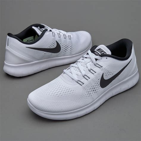 nike free run mens shoes white black