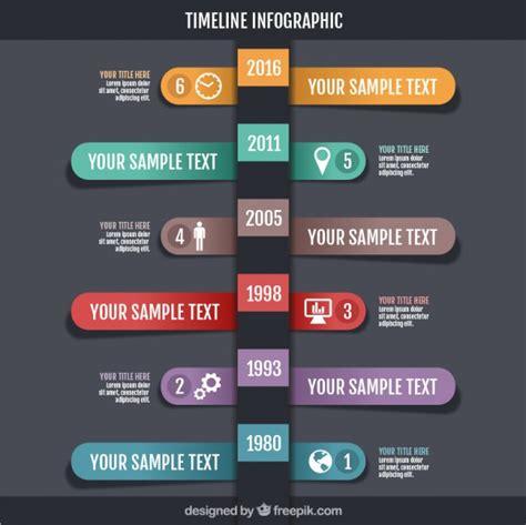 timeline infographic design vector premium download