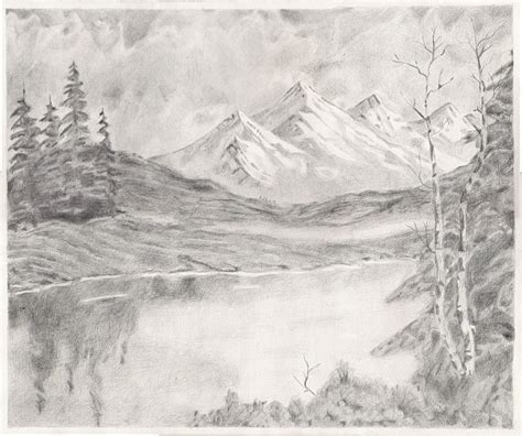Landscape Drawing Image Gallery Mountain Landscape Drawings
