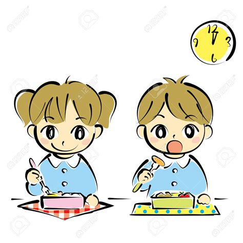 clipart pranzo child clipart lunch time pencil and in color child