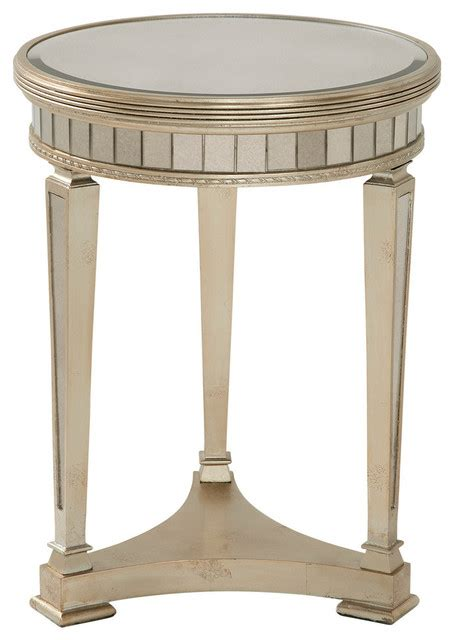 side accent tables borghese round mirrored end table traditional side