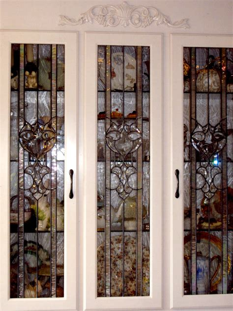 cabinet doors stained glass pinterest