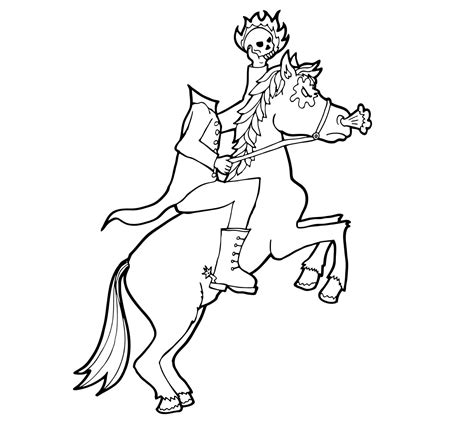 halloween coloring pages headless horseman ghost of halloween coloring pages free headless horseman