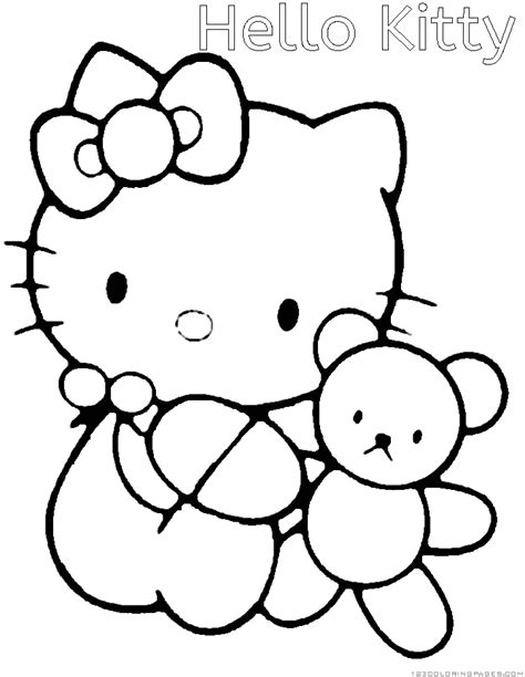 hello kitty coloring pages with numbers hello kitty coloring pages