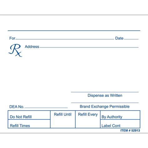 prescription form template word 28 images of blank pharmacy prescription pad template