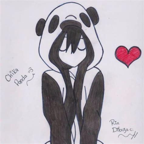 imagenes de amor para dibujar tumblr chica panda panda13chica twitter