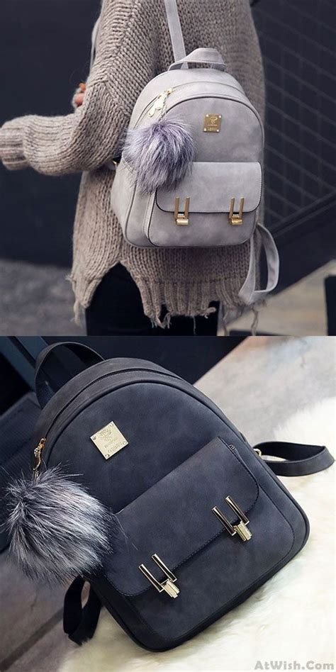leisure frosted pu zippered bag with metal lock match school backpack only 32 99 college bags