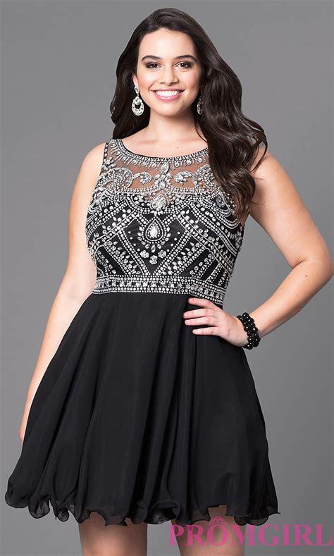 plus size short prom dresses dresses formal prom jeweled illusion short plus size prom dress promgirl