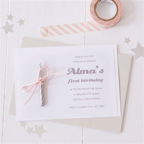 Candle Party Invitations By Twenty Seven Notonthehighstreet Com Candle Invitations Templates