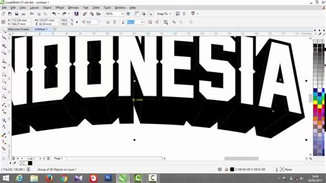 tutorial membuat typography coreldraw tutorial coreldraw x7 membuat text 3d dengan mudah