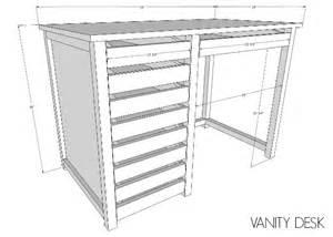 diy desk vanity that s my letter diy vanity desk with modern hardware pulls