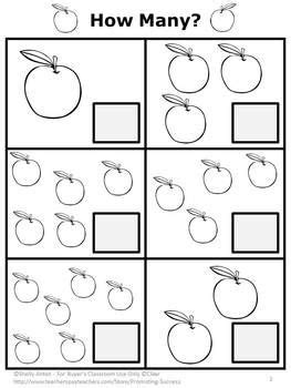 Apple Counting Worksheet by Free Here Is A Sle Math Apples Counting Worksheet From