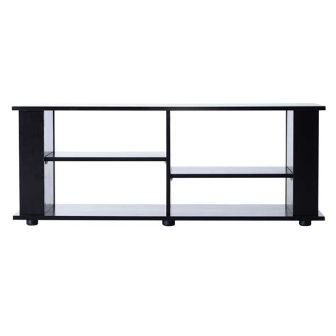 Open Shelf Tv Stand by Homcom 58 Quot Modern Open Shelf Tv Stand Black
