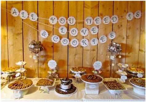 rustic wedding cookie buffet cookie buffets pinterest
