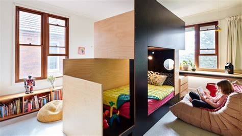 bunk beds for rooms cool bunk beds as a centre divider create two rooms from one stuff co nz
