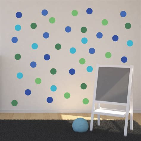 pink polka dot wall stickers polka dot wall stickers by mirrorin notonthehighstreet