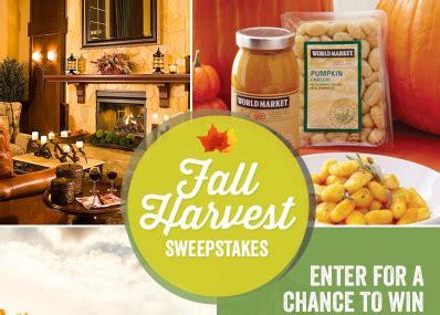 Worldmarket Sweepstakes - world market s fall harvest sweepstakes win a trip to california a 1 000 wm