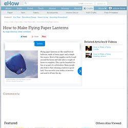 Make Flying Paper Lanterns - pearltrees