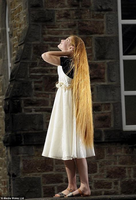 real like rapunzel has 64 inch hair she refuses to get cut little girl is real life rapunzel with long hair
