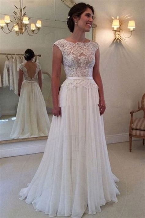 Robe De Mariée Simple Dentelle Dos - robe de mari 233 e simple ras du sol avec dentelle 192 basque