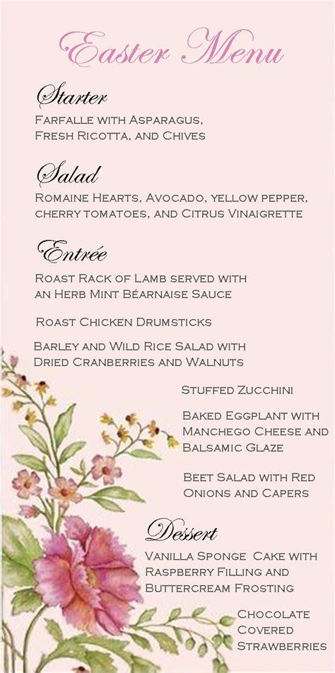 menu design for dinner party stranded in cleveland easter dinner party menu spring
