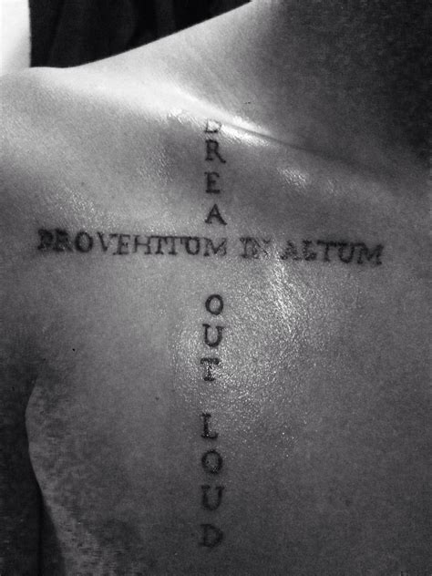 live loud tattoo 1 provehito in altum out loud thirty
